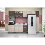 Cozinha Modulada Bruna II Branco-Amêndoa-Capuccino 5 Peças Poquema