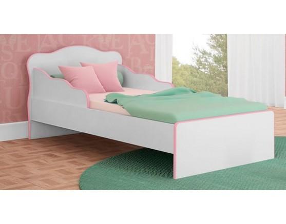 Mini Cama Doce Sonho 113 Branco-Branco-Rosa Qmovi
