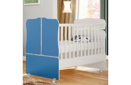 Berço Mini Cama Sonho Encantado 230 Branco-Azul Qmovi