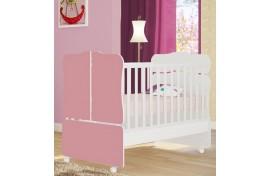 Berço Mini Cama Sonho Encantado 230 Branco-Rosa Qmovi