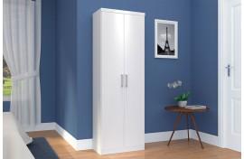 Guarda-Roupa Margarida Multiuso 2 Portas Branco-Branco Henn