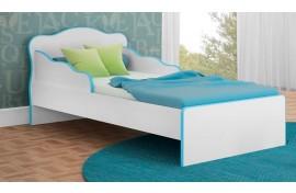 Mini Cama Doce Sonho 113 Branco-Branco-Azul Qmovi