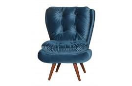Poltrona Decorativa Tolucci Veludo Brilho Azul 054 Ibiza
