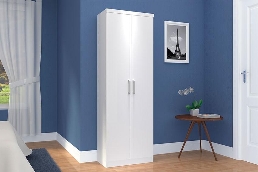 Guarda-Roupa Margarida Multiuso 2 Portas Branco/Branco Henn